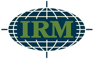 International Raw Materials (IRM) blue and green logo