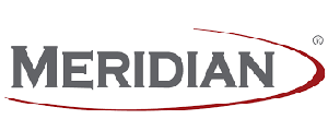 meridian gray and black logo